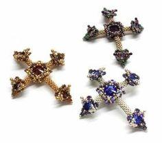 cross pendant, bead cross