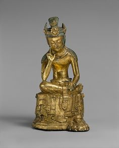 Pensive Bodhisattva- Three Kingdoms  period(57BC-AD 668) Mid 7th cent. From  Korea