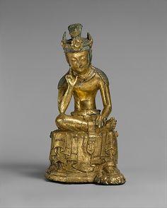 Pensive Bodhisattva- Three Kingdoms  period(57BC-AD 668) Mid 7th cent. From  Korea