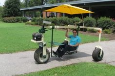 N.C. State University's BAE Research Shop built this garden scooter to give farmers with disabilities more mobility in the field.