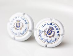 Champagne Caps Men Cufflinks Upcycled French Wine by daimblond, €24.00