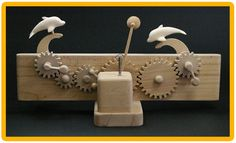 Beach Volleyball of trick toy good friend dolphin Kinetic Toys, Kinetic Art, Marble Machine, Industrial Design Sketch, Simple Machines, Woodworking Toys, Beach Volleyball, Wood Toys, Crafts To Make