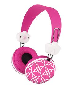 4591bb627f43 Take a look at this Key Largo Hot Pink Headphones by Merkury Innovations on   zulily