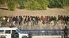 Surge of migrants in Spain