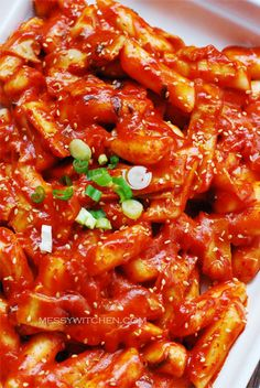 Super Spicy Tteokbokki (Spicy Korean Rice Cakes) this is my ultimate comfort food, can you tell I'm half Korean and since I was born there, I'm physically addicted to very spicy foods and need kimchi frequently