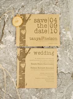 Love the save the date trees