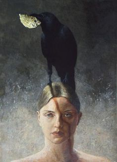Surrealism and Visionary art: Laurie Kaplowitz Lawrence Alma Tadema, Visual And Performing Arts, Master Of Fine Arts, Crows Ravens, Magic Realism, Bachelor Of Fine Arts, Portraits, Animal Totems, Visionary Art