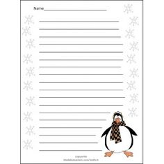 free winter stationery - Google Search