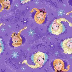 Tecido para Patchwork Disney Frozen