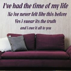 dirty dancing quotes   DIRTY DANCING QUOTE wall sticker