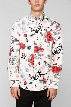 Staple City Doves Button-Down Shirt