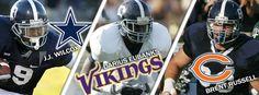 Georgia Southern players entering the NFL following the 2013 Draft.  JJ Wilcox (Dallas Cowboys), Darius Eubank (Minnesota Vikings), Brent Russell (Chicago Bears)