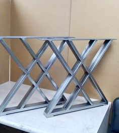Metal Leg Dining Table, Industrial Table Legs, Steel Table Legs, Trestle Table, Metal Legs For Table, Metal Desk Legs, Table Bases, Dining Table Design, Welded Furniture