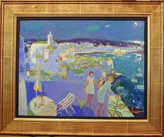 """Luis Amer, """"Night at Cadaques,"""" oil on canvas, 20 x 25 inches. For more information on this painting, call Kamp Gallery at 847-441-7999."""