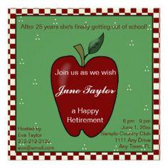 Teacher Retirement Party Invitation | Teacher retirement parties ...