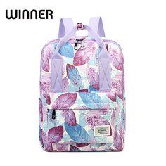35544072d4ba4 US $26.13 |Zwycięzca Casual pozostawia wzór druku kobiet ramię z powrotem  mody klasyczna torba kobiet plecak na laptopa dziewczyny tornister w  Zwycięzca ...