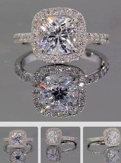 Terrific Images Delicate Princess Cut Diamond Prong Halo Engagement Ring In White Gold Suggestions Are you currently searching for inexpensive wedding bands? At EFES you'll find wedding bands from Diamond Rings, Diamond Cuts, Solitaire Diamond, Halo Rings, Solitaire Rings, Ruby Rings, Crown Rings, Black Diamond, Sapphire Rings