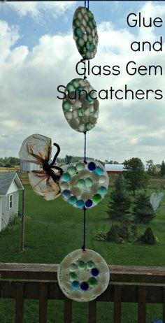 Glue and Glass Gem Suncatchers