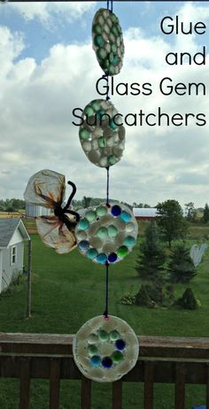 Glue and Glass Gem Suncatchers