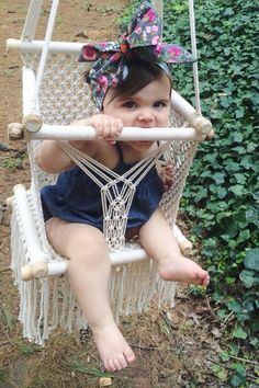 Baby Hanging Chair (Available in different colours) by HamacArt on Etsy www.etsy.com/...