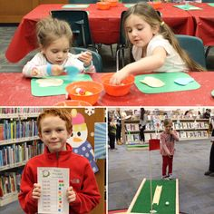 A few more adorable kids from Mini Golf.⛳️ To see all the photos, visit our Facebook page: Facebook.com/EmmaClarkLibrary