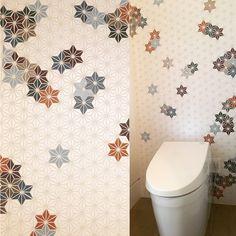 Ceramic art tile wall in powder room Tile Art, Wall Tiles, Interior Design Studio, Powder Room, Ceramic Art, Ceramics, Room Tiles, Nest Design, Ceramica