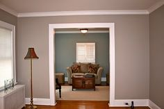 Benjamin Moore Kentucky Haze (to compliment the BM Thunder that is in living/dining room)