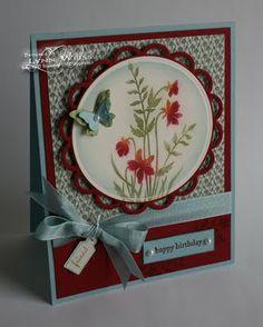 LW Designs: Stamp Set - Just Believe P; baja breeze cherry cobbler, vanilla,paisley petals DSP,Ink versamark cherry cobbler baja breeze pear pizzazze. baja breeze seam binding