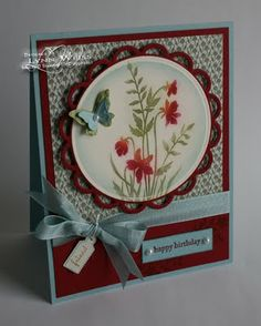 Stampin Up - Just Believe. I wonder if it would be possible to create the round scallop with the scallop edge punch?