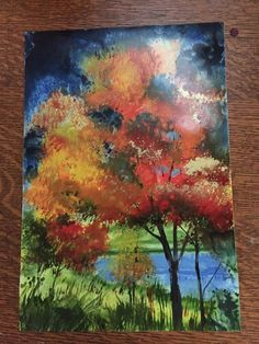 As the Color of Autumn Appears. Magic Time!  M.V. P. Bodette Secret Art Studio, St. Cloud, MN
