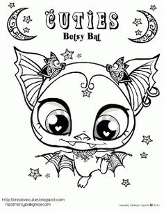 littlest pet shop coloring pages | ... drawings in the Littlest Pet Shop Style by artist Heather Chavez