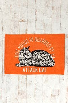OMG! I need this. I have an attack kitty :)
