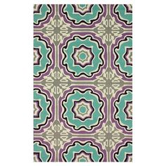 Hand-hooked wool rug with a medallion motif.    Product: RugConstruction Material: 100% WoolColor: M...
