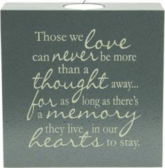 Those We Love - Tealight Candle                              …