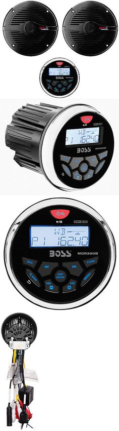 marine audio pyle waterproof bluetooth marine digital receiver marine audio boss mgr350b 3 gauge marine mp3 radio receiver bluetooth atv boat