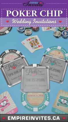 Getting married in Las Vegas? These poker chip invitations are the perfect theme to invite your guests! #vegaswedding #lasvegaswedding #weddinginvitations Vegas Wedding Invitations, Vegas Themed Wedding, Las Vegas Weddings, Wedding Invitation Design, Destination Wedding, Vegas Party, Casino Party, Cruise Ship Wedding, Poker Chips