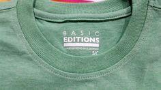 Men T Shirt S Basic Editions Short Sleeve Pocket Tee Green 100% Cotton NEW #BasicEditions #BasicTee