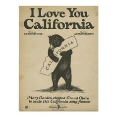 I Love You California Poster