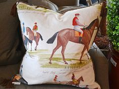 SB Louisville Finds: November 2015.Equestrian pillow at Digs for $275