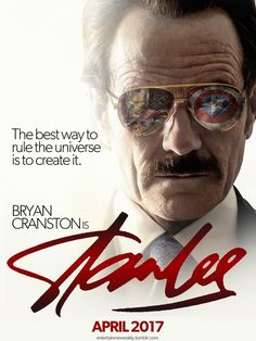 Fan made poster for a Stan Lee film staring Bryan Cranston. Bryan Cranston, Marvel Comics, Marvel E Dc, Marvel Heroes, Stan Lee Movies, Film Su, Fan Poster, Man Lee, Marvel Cinematic Universe