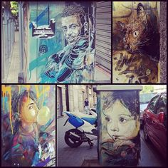 @jntx74 showed me a couple dozen #C215 pieces today. It was such a privilege to get to see all of these stunning works in person. He also showed me ones that had been targeted by those who want to steal or deface them. So I will not be adding them to the map out of respect. #streetart #stencil #streetartbarcelona