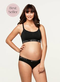 4bfe8a2cb2d7d Cotton Candy Luxury Seamless Nursing Bra  Black  – Milk  amp  Baby -  49.90