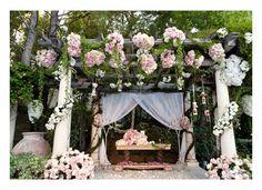 altar flowers at Pandora's wedding