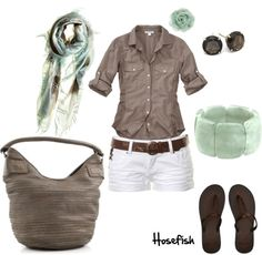 """Mint & brown"" by hosefish on Polyvore"