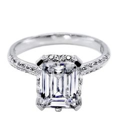 Tacori Emerald Cut Engagement Ring   From asscher to round, take a peek at the elegant options for engagement rings.
