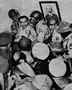 Batista with coup supporters at Columbia military headquarters, Havana Cuba, 3/10/52. (photo: El Nuevo Herald archive) For information about Cuban History of this period please visit Cuba 1952-1959