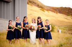 Utah Natural History Museum fall wedding - photo by David Newkirk
