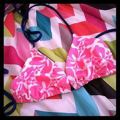 Bikini Super cute bright pink and dark blue bikini.  From old navy, I got it given to me because she never wore it. Old Navy Swim Bikinis