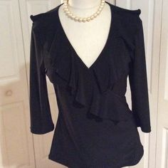 White House Black Market Black Top️NWOT Excellent Condition! ️NWOT Black Market White House Tops
