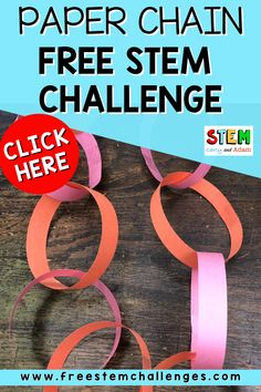 Integrate STEM in your classroom with this FREE paper chain STEM challenge! This is a great way to begin building community in your classroom while introducing STEM. The paper chain challenge helps students develop critical thinking and engineering skills. Students plan, design, and execute their own ideas. After they have completed their activity, there is time for reflection on what worked and what didn't. STEM #STEMChallenge Stem Teacher, Elementary Teacher, Paper Chains, Stem Challenges, Stem Projects, Science Lessons, Better Together, Stem Activities, Plan Design